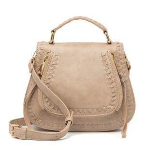KHLOE Mini Urban Expressions Saddle Bag (Natural)